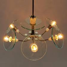 vintage chandelier by pietro chiesa for fontana arte 2