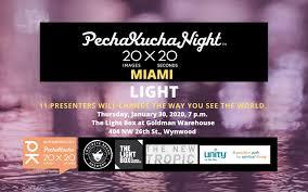 The Light Box Wynwood Pechakucha Night Miami Vol 35 Light Tropicult
