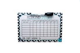 Baby Medicine Chart Kids Medicine Chart With Marker