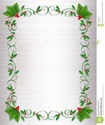 Free Card Borders Designs Christmas Holly Border Ornamental Stock Illustration