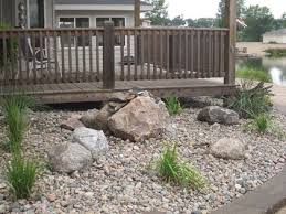 rock beds landscaping. Simple Rock Rock Beds And Mulch With Landscaping