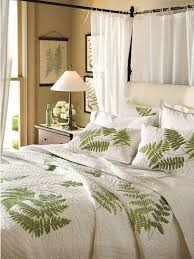 a fern leaf bedding set screams spring