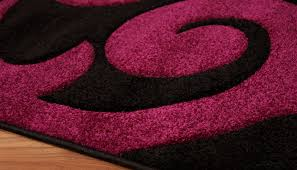 pink and black rug. New Modern Purple Plum Pink Black Small Large Motif Rug Carved Mat And