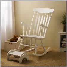 white wooden rocking chair. Brown Modern Rocker Chair Combined White Wooden Rocking