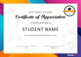 Certificate Of Appreciation Templates Free Download 30 Free Certificate Of Appreciation Templates And Letters