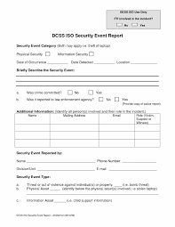 Security Incident Report Form Sample With Incident Report Format