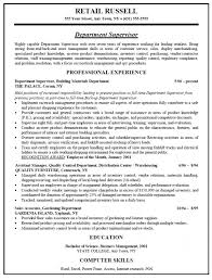 Retail Management Resume Examples Store Manager Sample Free