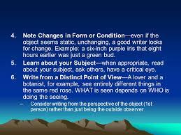 observation essay descriptive writing criteria use show dont 3 4