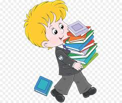 book royalty free cartoon ilration students holding books