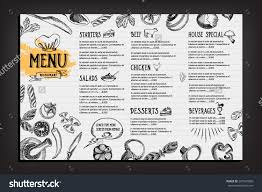 Cafe Menu Template Cafe Menu Restaurant Brochure Food Design Template Menu 14
