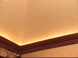 how to mount crown molding to a tray ceiling
