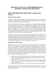 zara h m benetton case study supplying fast fashion