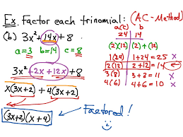 Ac Method Showme Factor Using Ac Method