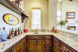snowfall granite bar with copper sink countertops featured stone counters