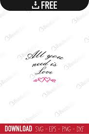 Compatible with cricut, silhouette and other cutting machines. All You Need Is Love Svg Cut Files Bundlesvg