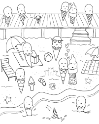 Small Picture Coloring Pages Tasty And Funny Summer Coloring Page For Kids