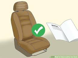 homemade leather cleaner for car seats image titled clean step 1 solution cleaning