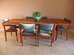 mid century modern danish teak dining set by