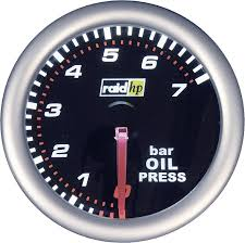 Raid Hp 660241 Inbouwmeter Auto Oliedrukweergave Meetbereik 7 0 Bar Nightflight Wit Rood 52 Mm