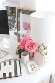 stylish office decor. Lovely Chic Office Decor Stylish Meagan Wardu0027s Girly Home {office Tour O