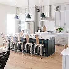 black kitchen island. dark gray kitchen island with restoration hardware remy stools black