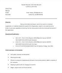 Call Center Sales Sample Resume Podarki Co
