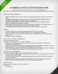 Combination Resume Format Inspiration Professional Janitor Resume Sample Resume Genius
