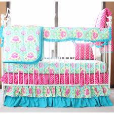 Lavinia Aqua Lily Pad Ruffled Crib Baby Bedding Set – Jack and