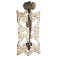 rustic white wood wall sconce hobby