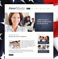 American Flag Website Background Politics Website Template With American Flag On The