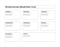 Week At A Glance Calendar Template Month Calendar Mpla Printable At A Glance Relad Post