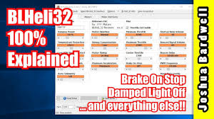 Damped Light Blheli Blheli32 100 Explained Part 12 Brake On Stop Damped Light Off And Others