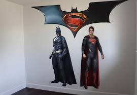 superman vs batman wall sticker on ey wall decals