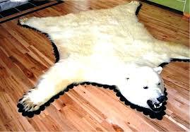 faux polar bear rug skin rugs com no head