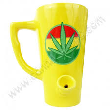 They can be your perfect gift to stoner friends! Cannabis Mug Pipe Canna Shops