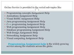 programming assignment help 5