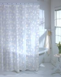 this awesome shower curtain has embossed leaf pattern on a transpa material it is made of peva which is chloride free vinyl the transparency of this