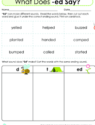 Have fun with phonics ending sounds activities with our phonics worksheets! Learning About Words The Sounds Of Ed Lesson Plan Education Com Lesson Plan Education Com