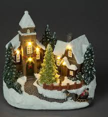 snowtime b o 19cm led church scene with