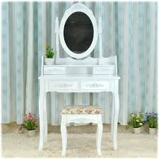 Queen Anne Bedroom Furniture For Sale Queen White Make Up Table Dresser  Vanity Set Swivel Oval