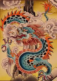 Dragon art, Tibetan dragon, Dragon illustration