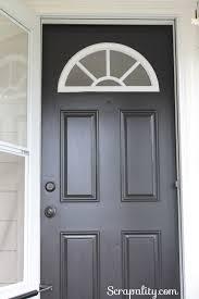front door paintPaint the Front Door Before and After