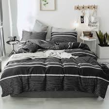 hot decbest 4pcs ins nordic simple pure cotton bedding sets queen king size duvet cover for 1 5m 2m bed newchic