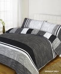 derwent grey cotton mix duvet set
