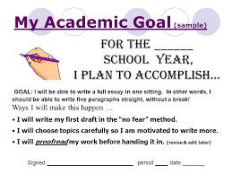 my academic goal sample ppt video online my academic goal sample