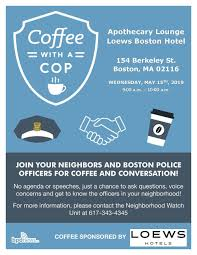 Coffee With A Cop Flyer Community Calendar Join Us For Coffee With A Cop Tomorrow