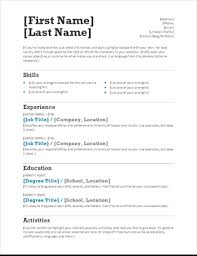 Free General Resume Templates The Ultimate List Of Simple Free Resume Templates For Your