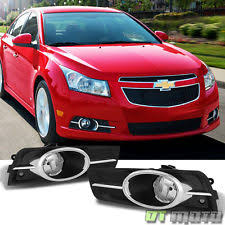 chevrolet cruze fog driving lights chrome trim 2010 2014 chevy cruze bumper fog lights switch relay bulb left right fits chevrolet cruze