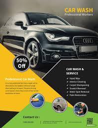 Free Car Wash Flyers Designs Free Car Wash Service Flyer Free Psd Flyer Templates Car