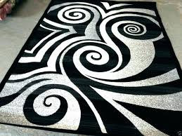 black and white area rugs 3x5 rug target modern circle